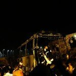 Oil Tank Crashes With Sanandaj Bus