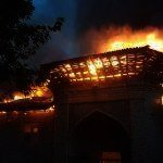 Fire Ruined Sari Central Mosque