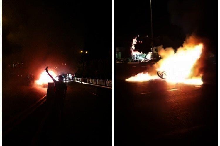 Karaj protests catch fuel