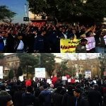 Workers and student unite in rallying against regime