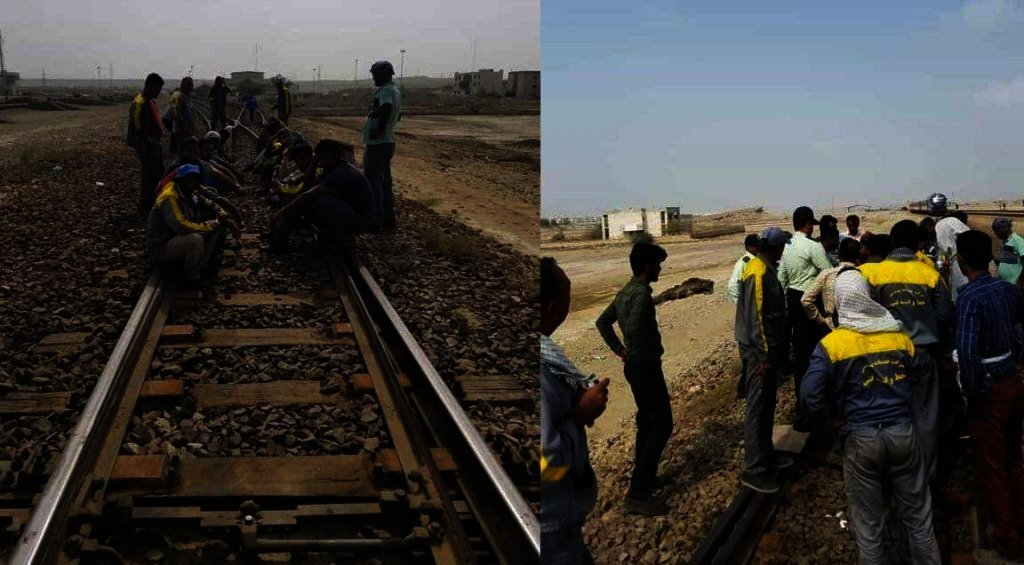 Railway workers in the southern city of Bandar Abbas go on strike