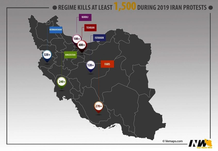 Iran kills 1,500 in nationwide protests