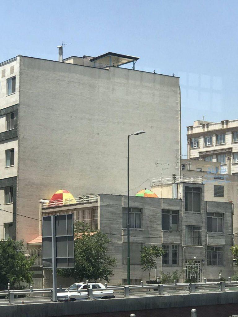 Rooftop sleeping in Tehran