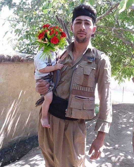 Zanest Hassan Nejad with son