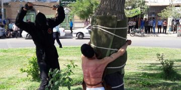 public flogging iran