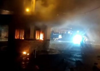 Police kiosk burned during Sistan and Baluchestan protests
